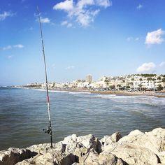 #cañadepescar y al fondo la #playadelacarihuela #playa