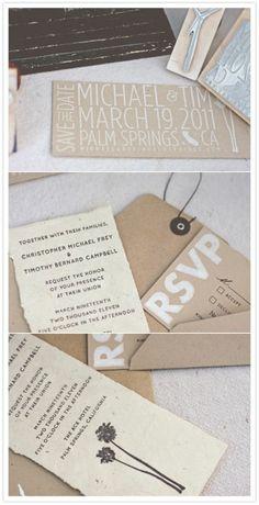 Palm Springs invitation by leanna