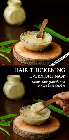 OVERNIGHT ALOE HAIR THICKENING MASK - The Little Shine