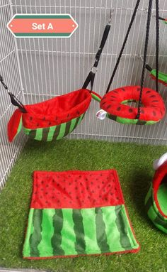6 Piece Sugar Glider Hamster Marmoset Squirrel Chinchillas Small Pet Cage Set A Watermelon Pattern Green Red Color *** Information could be discovered by clicking the photo. (This is an affiliate link). Sugar Glider Cage, Sugar Glider Toys, Hamster Toys, Pet Toys, Hamster Accessories, Hamster Bedding, Pet Ferret, Small Animal Cage, Pet Guinea Pigs