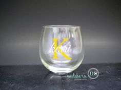Custom Name Stemless Wine Glasses - Bridesmaid Gift - Personalized Wine Glass on Etsy, $11.00