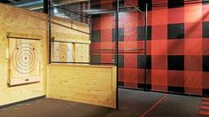 Ax throwing is made safer with fencing and walls at The HUB Stadium in Auburn Hills. Lumberjack Competition, The Hub, Auburn Hills, Detroit Area, Arts And Entertainment, Fencing, Michigan, Walls, Picket Fences
