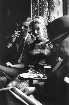 checkered fall dress by Jeanloup Sieff
