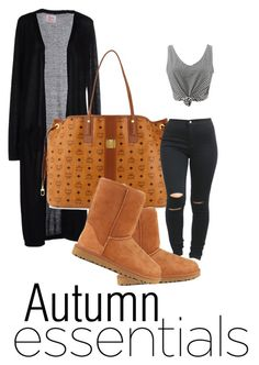 """""""Untitled #156"""" by iamtinaa on Polyvore featuring SH Collection, MCM, UGG Australia and stripedshirt"""