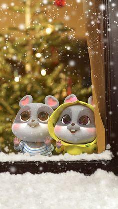 Rabbit Wallpaper, Chibi Wallpaper, Cute Disney Wallpaper, Wallpaper Iphone Cute, Flower Wallpaper, Cute Bunny Cartoon, Cute Kawaii Animals, Cute Love Cartoons, Cute Love Wallpapers