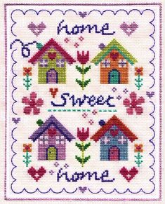 Welcome Sampler 'Home' sampler cross stitch kit designed by The Stitching Shed. Contents: 14 count aida fabric, anchor threads,chart and full instructions. Size: x *Usually dispatched within 5 working days* Cross Stitch House, Mini Cross Stitch, Cross Stitch Cards, Cross Stitch Borders, Cross Stitch Alphabet, Cross Stitch Samplers, Modern Cross Stitch Patterns, Cross Stitch Flowers, Cross Stitch Kits