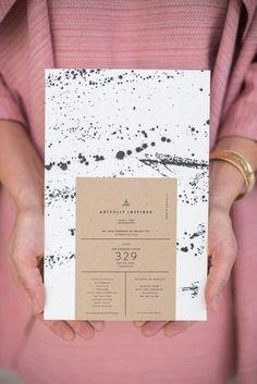Paint splatter invitations = SO COOL! design An Artfully Inspired Dinner. - Paint splatter invitations = SO COOL! design An Artfully Inspired Dinner In Charleston, S. Invite Design, Layout Design, Graphisches Design, Design Poster, Logo Design, Menu Design, Stationery Design, Cover Design, Graphic Design Print