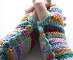 Super Striped Fingerless Gloves