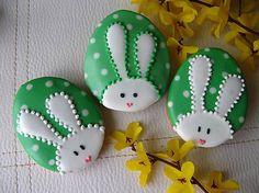 Dolinka / medovníčky zajačiky Zelené - 3 ks