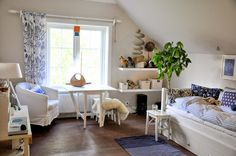 Den Vita (Dröm) Gården: Sovrummen