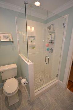 Criativa DÃ © cor: 39 Casas de banho com meia Paredes   DigsDigs