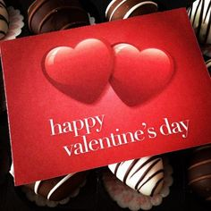 """February 14: A gift with a lot of """"heart"""" - thank you, Mom, Dad and Eric! Delicious chocolate-covered strawberries. #FebPhotoADay"""
