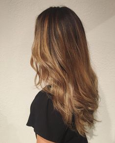 Subtle Golden Color Melt Hair ideas Pinterest