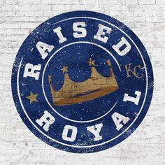 """""""Raised Royal"""" - 2017 Theme for Kansas City Royals baseball team Kansas City Royals, Kansas City Missouri, Kc Royals Baseball, Pro Baseball, Baseball Stuff, Football, Baseball Games, No Crying In Baseball, Baseball Crafts"""