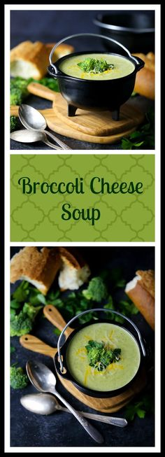 Creamy, cheesy and so satisfying...say hello to my favorite broccoli soup!