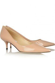 Aza patent-leather pumps by Jimmy Choo Kitten Heel Pumps, Pumps Heels, Stuart Weitzman, Jimmy Choo, Work Heels, Comfortable Heels, Patent Leather Pumps, Court Shoes, Beautiful Shoes