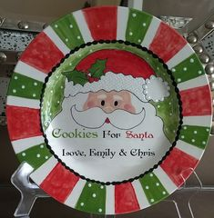 Personalized Cookies for Santa Plate Only or by YepItsPersonal