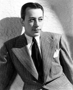 American actor often associated with 'tough guy' roles in 30s and 40s film, George Raft was born today 9-26 in 1901. He appeared in film until the 70s and passed in 1980.