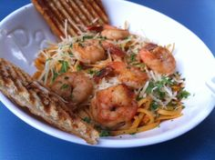 Special for the week of 10/22/12 at George's Greek Grill in Cal Plaza: Grilled Shrimp and Pasta.