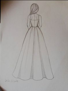 Diy Discover Custom Modest Wedding Dress Custom Bridal Gown -Chelsea Related Simple Doodles You Can Easily Copy in Your Bullet Journal Bullet journal desi. Art Drawings Sketches Simple, Girl Drawing Sketches, Cute Easy Drawings, Girly Drawings, Pencil Art Drawings, Drawings Of Dresses, Drawing Ideas, Pencil Drawing Inspiration, Girl Drawing Easy
