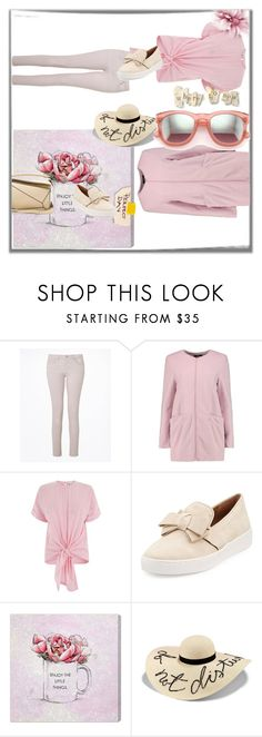 """Explore your pink side"" by peeweevaaz ❤ liked on Polyvore featuring Boohoo, Warehouse, Michael Kors, Oliver Gal Artist Co., Eugenia Kim, Loewe, casual, outfit, polyvoreeditorial and polyvorefashion"
