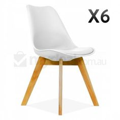 6x White Replica Eames Padded Wood DSW Dining Chair   Buy Dining Chairs   289 00   deliverySet of 4   DSW Dining Side Chair Wooden Legs   Eames Reproduction  . Set Of 4 Replica Eames Eiffel Dsw Dining Chair White. Home Design Ideas