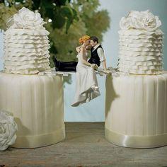 Look of Love Wedding Cake Top #weddingcakes