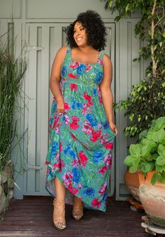 Plus Size Dress | Kathryn Maxi Dress | SWAK Designs Clothing Collection