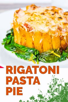 Yes I know it is not really a pie, but hey it is my rigatoni pasta pie... Rigatoni standing to attention with a balsamic tomato sauce, mozzarella and Parmesan and wilted spinach! #pasta #pastapie #rigatoni #pastabake #recipe #recipeoftheday #recipeideas