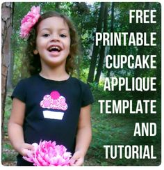 free printable cupcake applique with tutorial