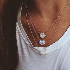 http://www.latestdressstyles.com/category/necklace/ #moonstone #gypsy #jewelry