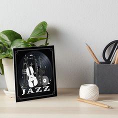 Jazz Lovers - Music On Vinyl by BlueMoonGear | Redbubble Vinyl Music, Vinyl Records, Jazz Instruments, Classic Jazz, Photographic Prints, Art Boards, Canvas Prints, Lovers, Wall Art