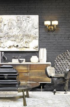 Golden furniture matches perfectly with silver pieces. Try a bold interior…