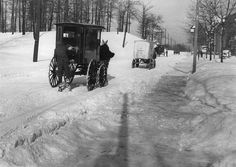 Milk and bread wagons travelling on Parkside Drive, January From the City of Toronto Archives, Fonds Series Item 22223 Toronto Ontario Canada, Canada Eh, Vintage Winter, Old Pictures, Pure Products, History, January 13, Bread, Outdoor