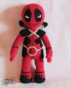 Free crochet pattern for deadpool. Amigurumi free pattern for DeadPool
