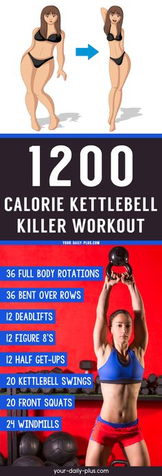 weight loss diet weight loss gym workout health and fitness 8 Kettlebell Exercises For Weight Loss Calorie Burning Overdrive - Your Daily Plus Killer Workouts, Lower Ab Workouts, Exercise Workouts, Fitness Exercises, Belly Exercises, Exercise Routines, Gewichtsverlust Motivation, Weight Loss Motivation, Exercise Motivation