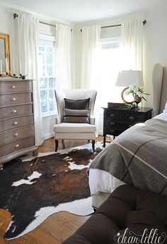 Dear Lillie: Our New Master Bedroom with Some Simple Winter Touches