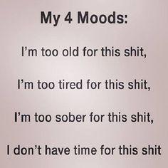 My 4 moods