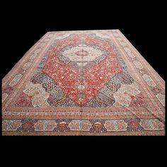 Tabriz Rug - 40-1243 | Persian Formal 22' 0'' x 36' 0'' | Red, Origin Persia, Circa: 1890  #antique #rug #nyc #RADR #tabriz #carpet