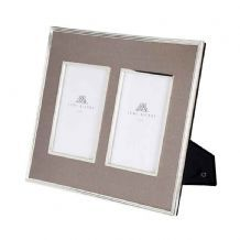63329cf360af Lene Bjerre Double Photo Frame - Taupe (4 x 6