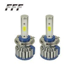 2PCS/LOT Antifog H4 LED COB Light Car Headlights Bulbs Kit for 12V Auto Driving Fog Lights External Lights Turbo LED Light