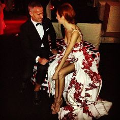 Met Gala fave - Taylor Tomasi Hill. Spikes and floral are so good.