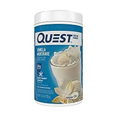 Act now for Quest® Protein Powder – Vanilla Milkshake featuring of fast-acting and slow-releasing protein with only net carbs* per serving. Ideal Protein, Protein Pack, Healthy Protein, Whey Protein, High Protein, Protein Milkshake, Milkshake Flavours, Quest Protein Powder, Vegan Protein Powder
