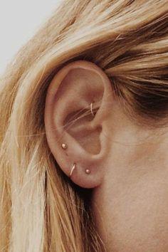 Meet the Best Piercing Parlor in Los Angeles: Body Electric Tattoo - Ramshackle . Meet the Best Piercing Parlor in Los Angeles: Body Electric Tattoo - Ramshackle Glam - earrings a plenty but minimal - And Body Art Daith Piercing, Cute Ear Piercings, Tattoo Und Piercing, Rook Piercing Jewelry, Different Ear Piercings, Anti Tragus, Bellybutton Piercings, Body Piercings, Ear Jewelry