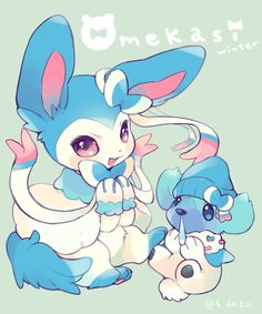 Shiny Sylveon and Cubchoo