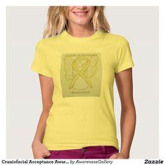 Craniofacial Acceptance Awareness Ribbon Yelllow Angel Art Shirt