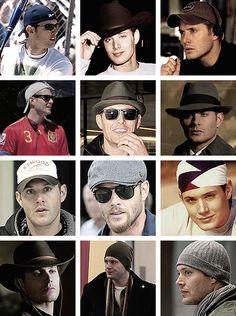 Jensen in hats, part three  I am only reblogging this because of Jensen's baseball hat