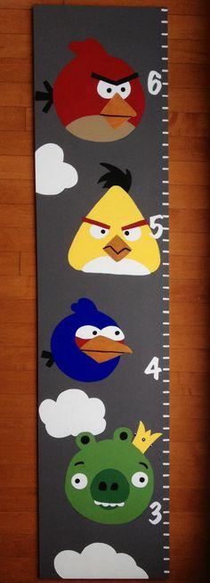Angry Birds Growth Chart $40 Find us on Facebook!