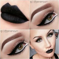 [Pic] beautiful make up Makeup Goals, Love Makeup, Makeup Inspo, Makeup Inspiration, Makeup Tips, White Makeup, Gothic Makeup, All Things Beauty, Beauty Make Up