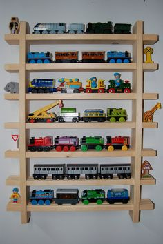 Toy Train Shelves For Organizing And Displaying Wooden Toy Trains